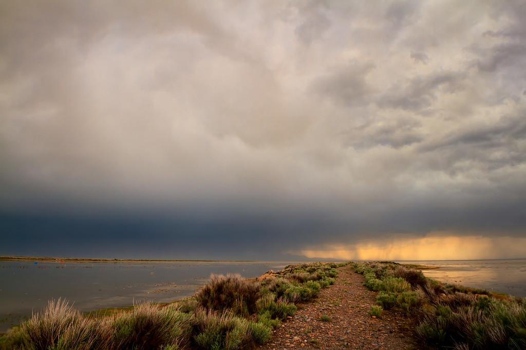 Storm Light Great Salt Lake, Utah
