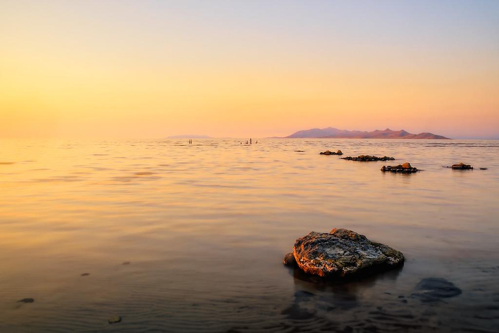 Rocks at the Great Salt Lake, Utah
