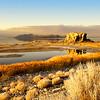 Black Rock bathed in Golden sunset light