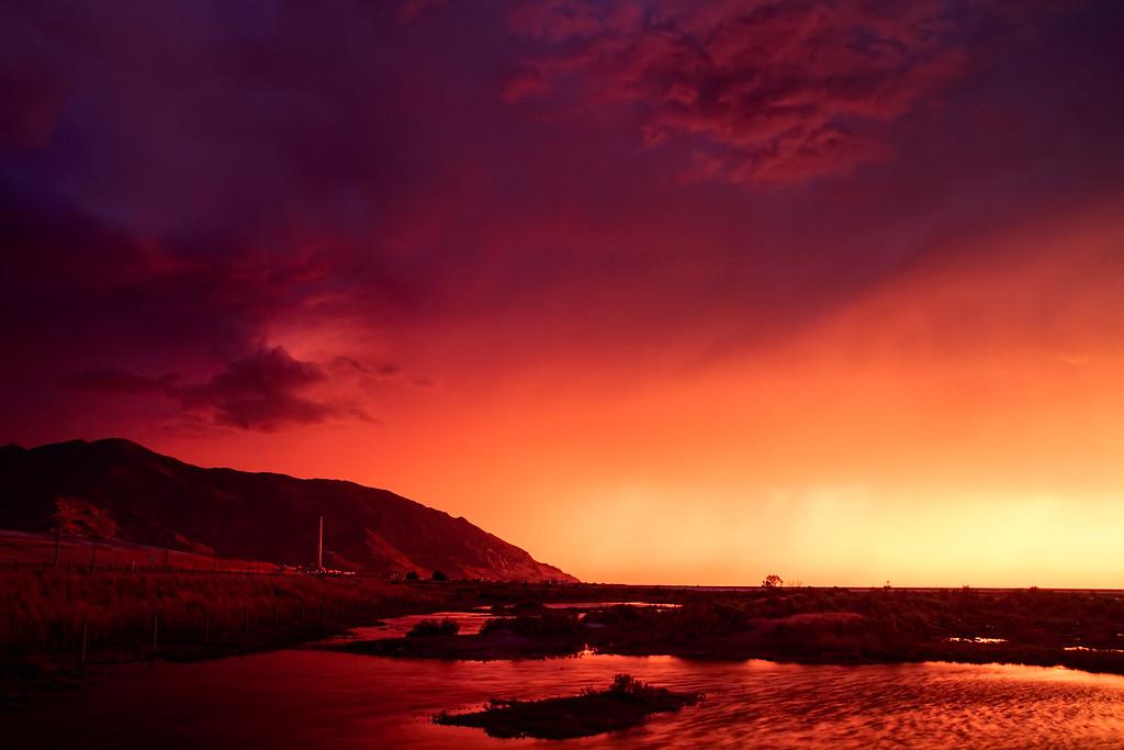 Storm Light sunset, Great Salt Lake