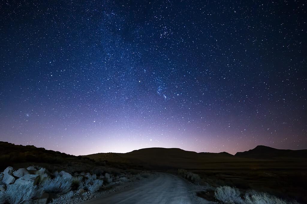 Winter constellations rising