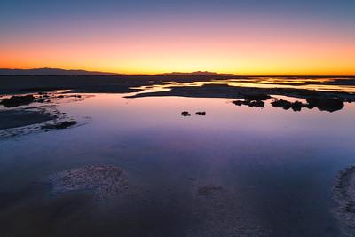September sunset Great Salt Lake