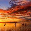 Great Salt Lake Black Rock Sunset
