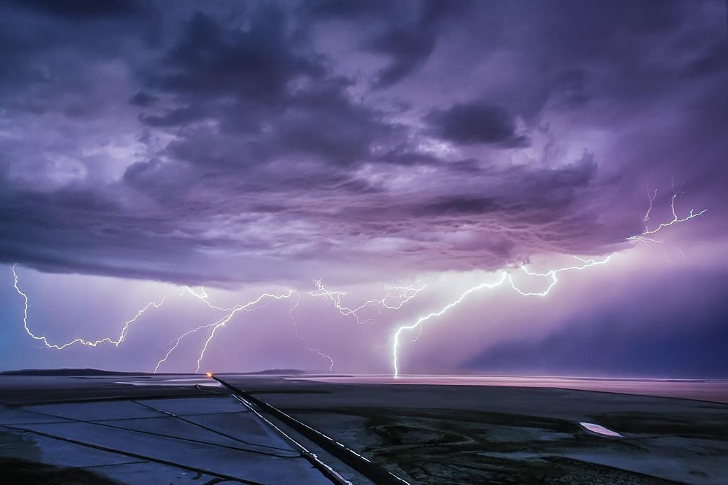 Lakeside summer storm