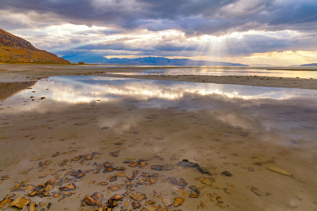 Rays at Great Salt Lake, Utah