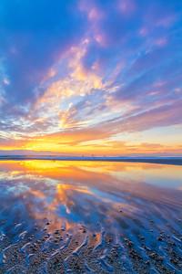 Black Rock Beach sunset, GSL