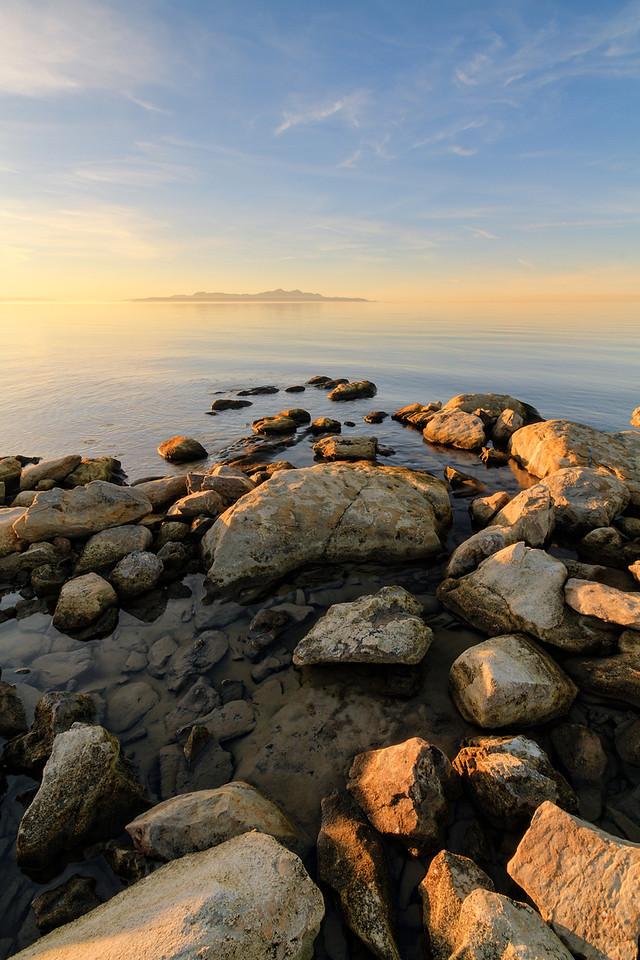 rocks and an island