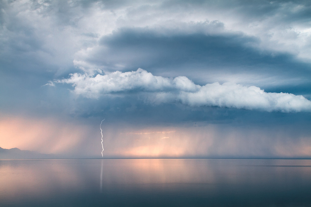 Great Salt Lake summer storm