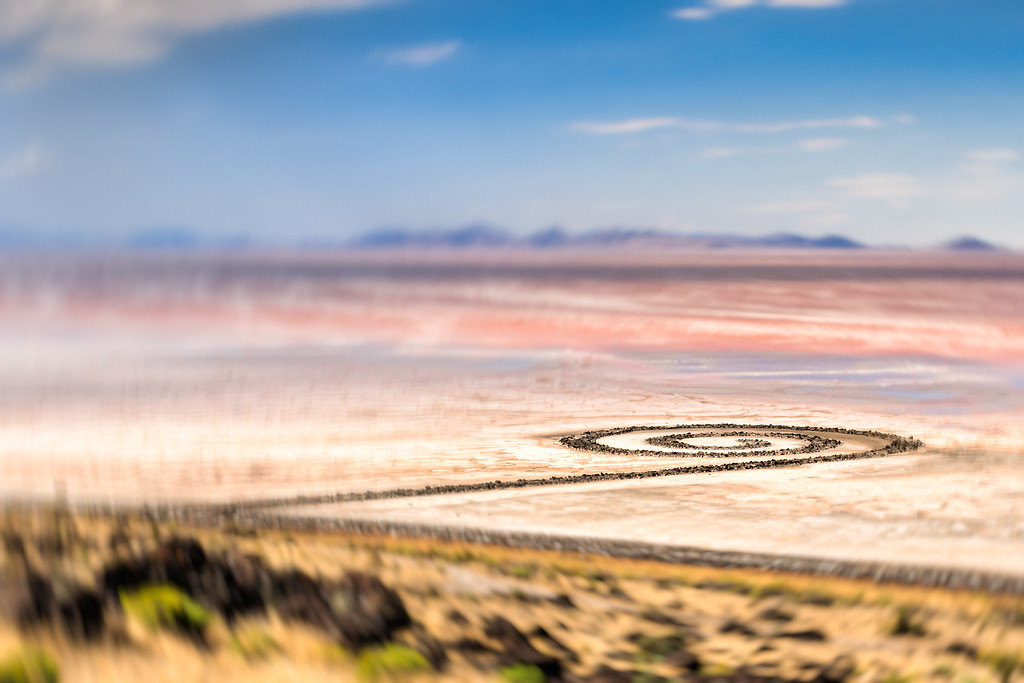 Spiral Jetty, with the spins