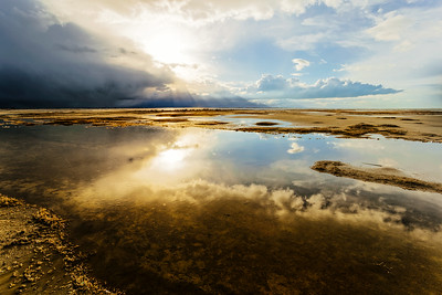 Storm moving across the Great Salt Lake, Utah