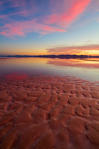 salty  shoreline ripples