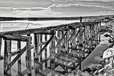 old piers at Little Valley harbor