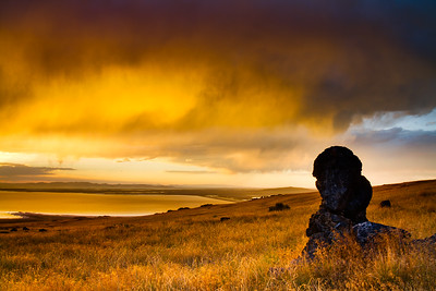 Sunset; Stansbury Island