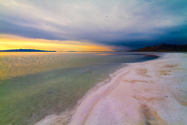 Salty beach, Great Salt Lake.