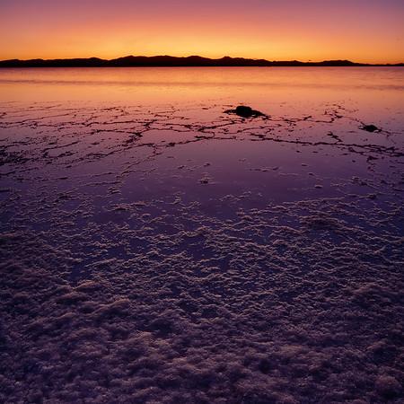 twilight @ Great Salt Lake a, Utah