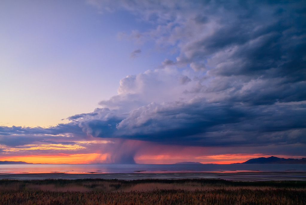Summer Storm over the Great Salt Lake