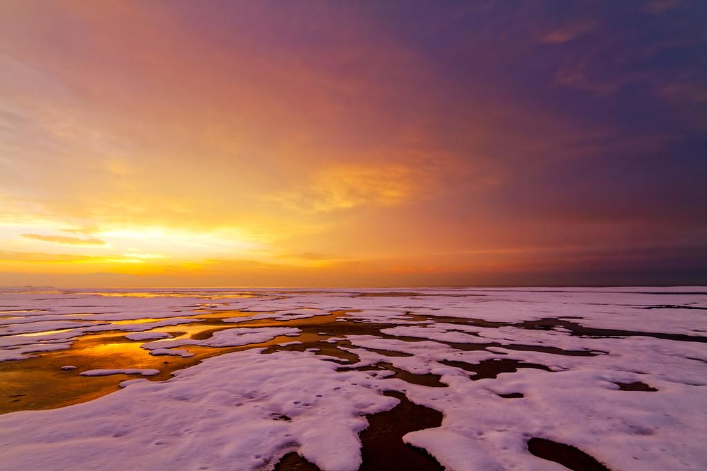 Winter at the Great Salt Lake