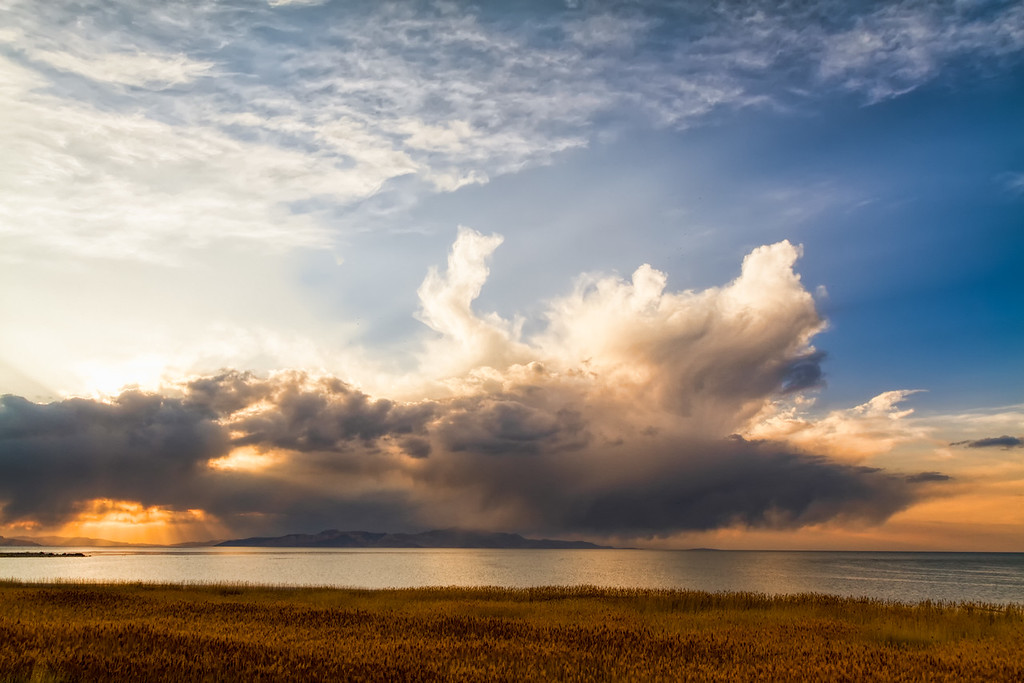 Great Salt Lake Storm clouds