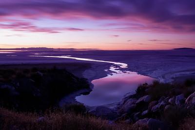 after dark @ Great Salt Lake, Utah