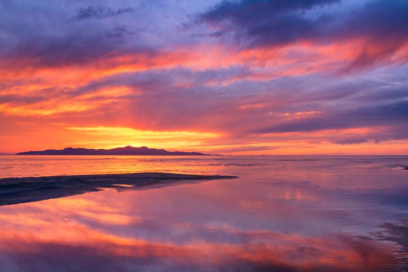 Sunset Great Salt Lake 5_4_13