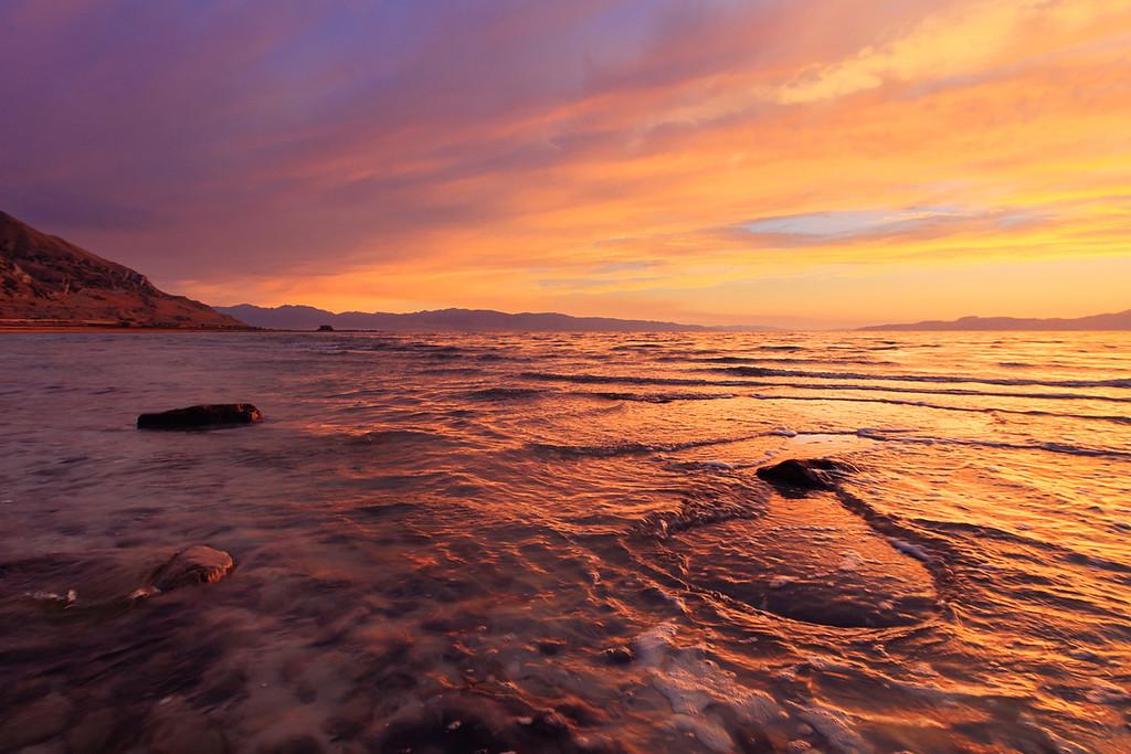 HDR of sunset beach