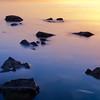 Rocks along the shore of the Great Salt Lake
