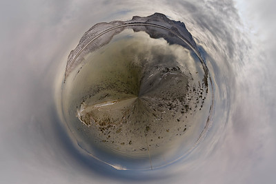 Stansbury island small planet in winter