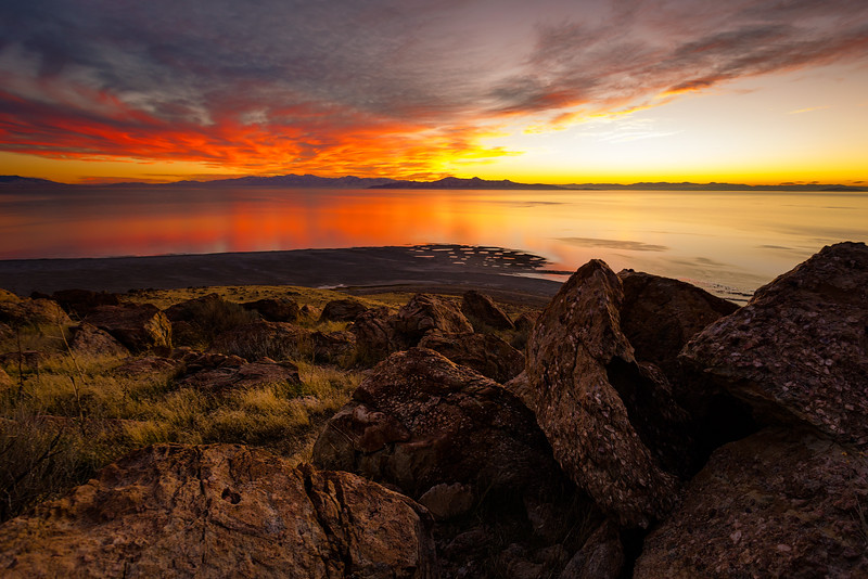 Antelope Island Sunset at Buffalo Point