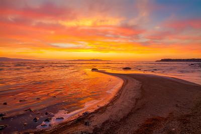Late July, Sunset beach Great Salt Lake