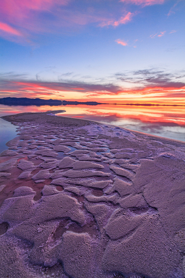 Great Salt lake salty ripples