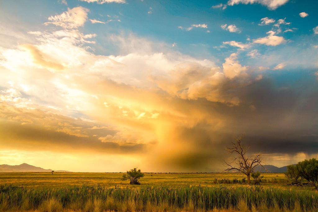 Summer Storm over Great Salt Lake, Utah