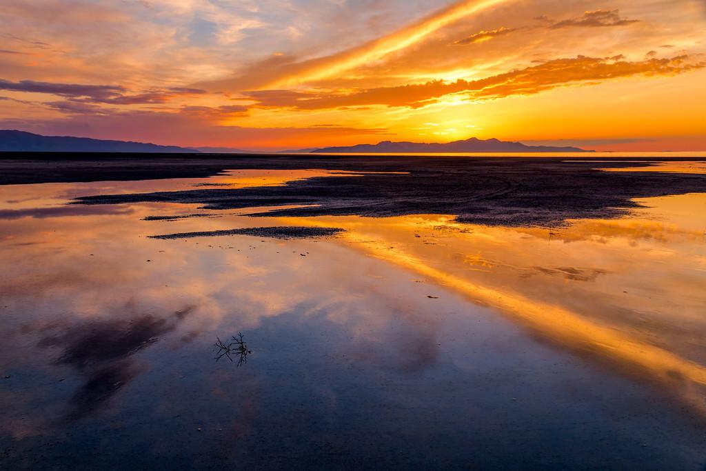 Sunset Great Salt Lake
