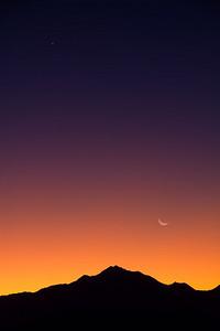 twin peaks, moon rise @ Salt Lake Valley, Utah