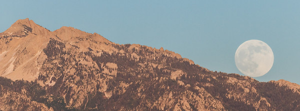 supermoon and lone peak
