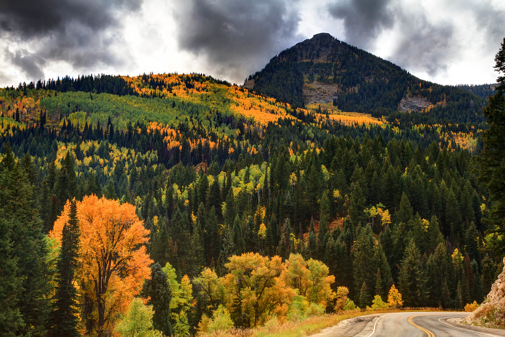 Big Cottonwood Canyon with storm