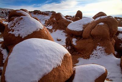 Goblin Valley in snow