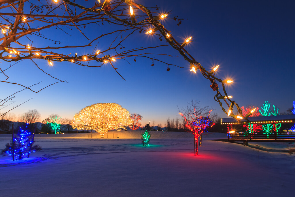Draper City Park lights