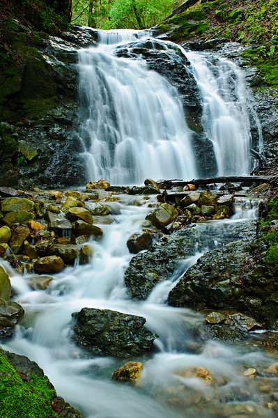Upper Falls at Uvas Canyon Creek, nestled in the foothills just south of San Jose. I headed there to shoot after the spring rains and just caught the lush green colors and flows from the creeks. This is another one of those places I would like to be on a Friday afternoon.