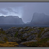 Changing clouds, wind and hale showers<br /> Værøy