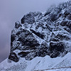 Snowy rock