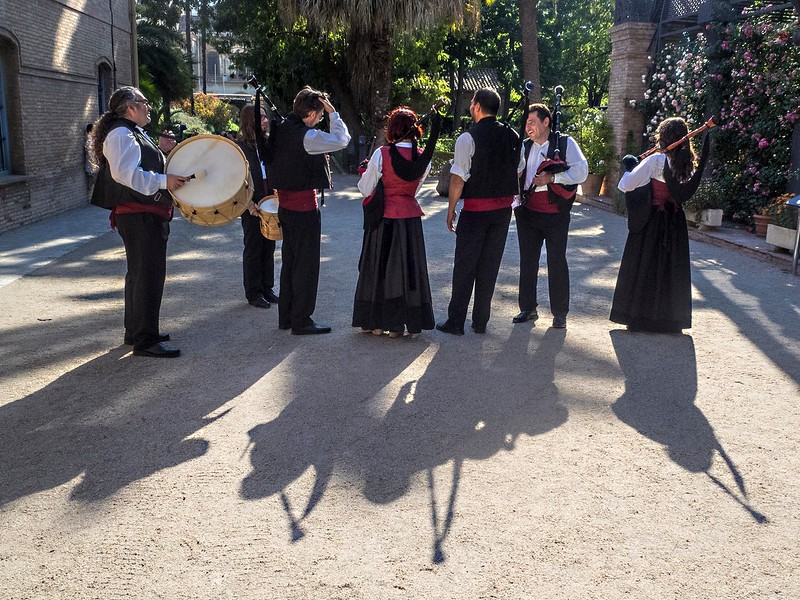 Galician bagpipe band, Valencia