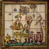 Garden, Casa-Museo José Benlliure, Valencia: characters from Corpus Christi procession.