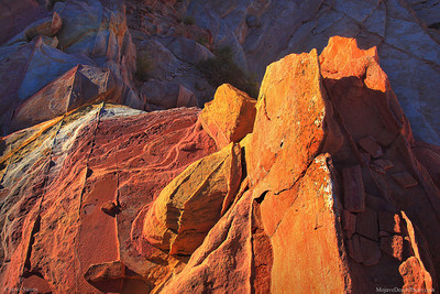 Bands of color at Valley of Fire State Park in Nevada.