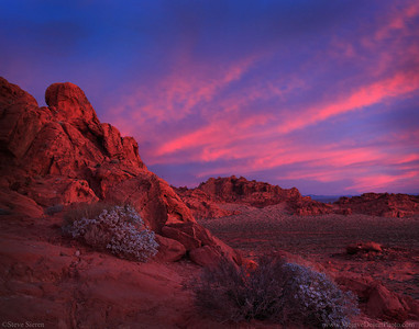 Wild Sunrise Color at Valley of Fire State Park Nevda