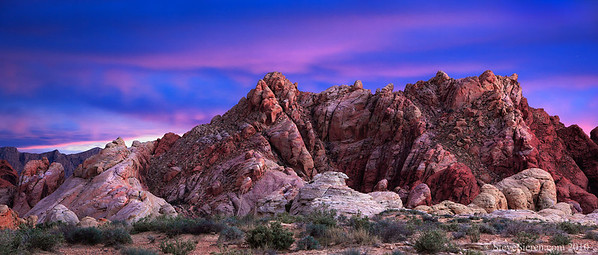 Rainbow Vista Scenic Area Panorama Valley of Fire State Park, Nevada