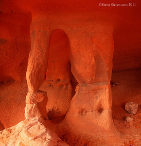 Windstone Arch in the Fire Cave at Valley of Fire State Park