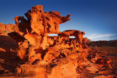 Wild rock sculptures at the Devil's Fire or Little Finland in the Lake Mead Basin, Nevada