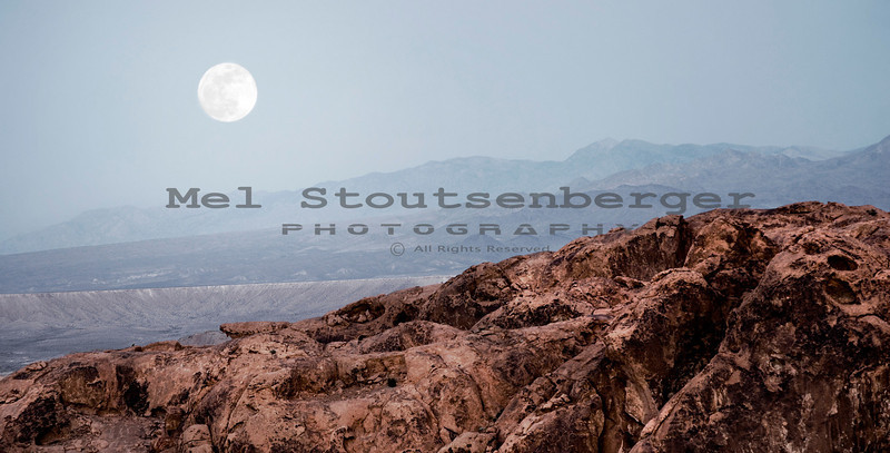 Moonrise in the Valley of Fire State Park.