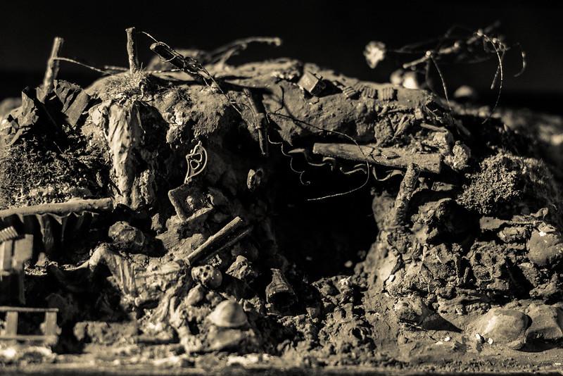 Abri de tranchée dévasté - Mémorial Verdun
