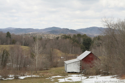 A view from East Fairfield in early spring, looking north.